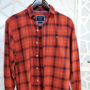 Hackett London Men Button Shirt, Tailored Fit L,